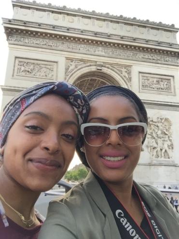 Selfie with Arc de Triomphe
