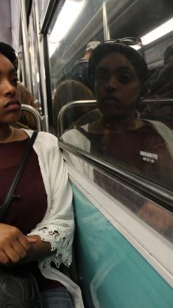 Shareefah on the subway